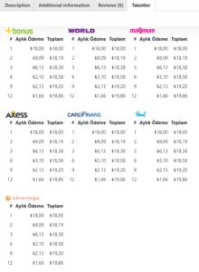 WooCommerce iyzico Taksit Tabı