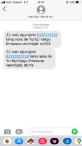 woocommerce sms kargo takip örneği